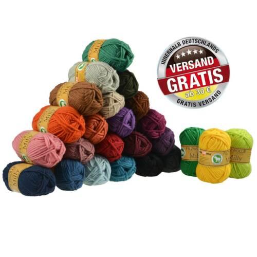 filzen Farbwahl Strickfilzen 50g Filzwolle Milly Twisted 100/% Wolle Stricken
