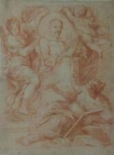 Gravure estampe ancienne dans le style et d'après BOUCHER, en l'état à encadrer