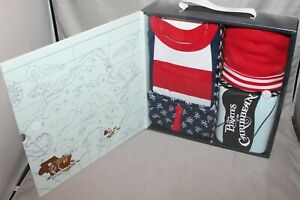 Disney Parks Pirates of the Caribbean 4 Piece Layette Baby Set Blanket Hat Short