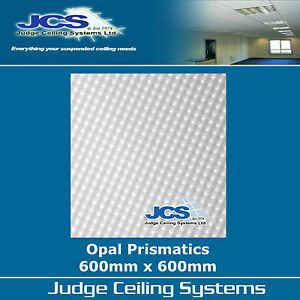Details about 10 x Opal Prismatic Light Diffuser Panels Clear 600mm x  600mm  Suspended Ceiling
