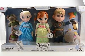 Disney-Animators-Collection-Frozen-Dolls-Anna-Elsa-amp-Kristoff-Deluxe-Gift-Set