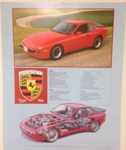 Own It!! Porsche 928 Cutaway Out of Print Car Poster Stunning