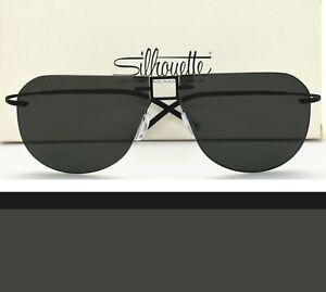 Silhouette Rimless Aviator Sunglasses 8688 40 6200 Black 62-12-140