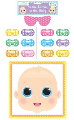 14 Pcs PIN THE DUMMY ON THE BABY Game Multi Player Baby Shower Party Game Moms