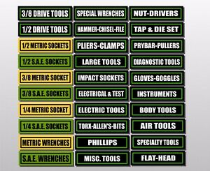 toolbox labels sticker decals for drawers and all tool box chest set