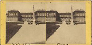 Florence Palais Pitti Italia Stereo Vintage Albumina Ca 1865