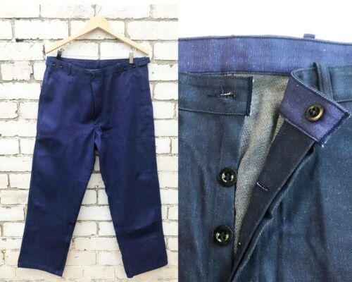 Vintage Mens Denim Work Pants - Cotton Chore Pants