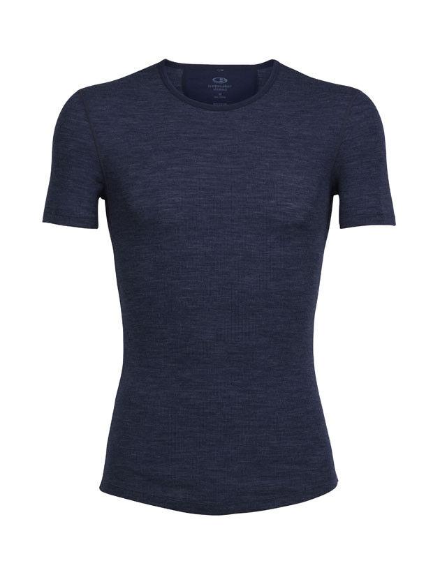 ICEBREAKER Anatomica Rib Short Sleeve Sleeve Sleeve Crewe Herren - 180 g m² afd051