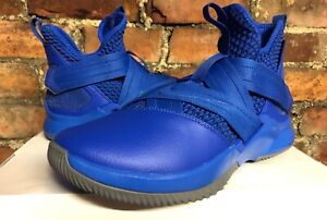 wholesale dealer e9ae1 fa277 Details about NIKE ZOOM LEBRON SOLDIER XII 12 iD BLUE GREY UK8 US9 EUR42.5  JAMES BASKETBALL