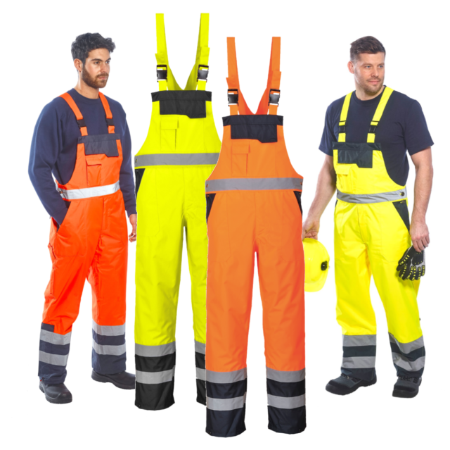 hot-selling clearance where to buy new styles Portwest Contrast Hi Vis Bib Brace Overalls Work Dungarees Waterproof  Breathable