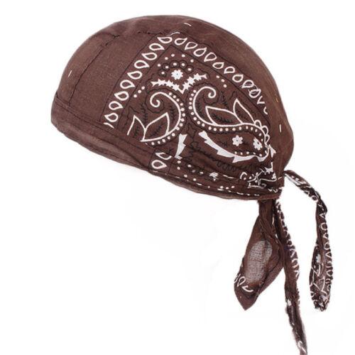 Cotton Biker Skull Cap Motorcycle Bandana Head Wrap Du Doo Do Rag Black Hat lot