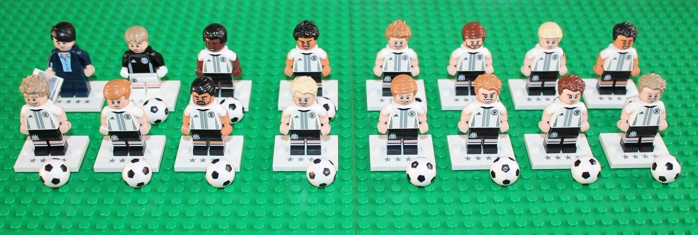LEGO 71014 figurine  jeu complet de 16 équipe allemande neuf ouvert pour confirmer le type