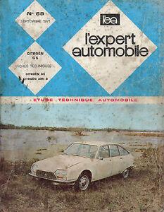 à Condition De Rta Revue Technique Automobile N° 69 Citroen Gs 1971