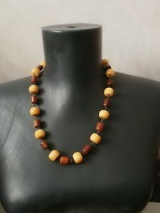 Bakelite-Butterscotch-Vintage-Necklace-Art-Deco-Tested-simicrome-47-gr