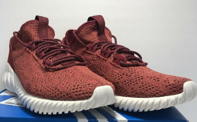 cheaper d0463 d16af adidas Tubular Doom Sock PK Mens BY3560 Mystery Red Primeknit Shoes Size 9