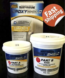 Details about RUST-OLEUM EPOXY SHIELD CONCRETE PATCH AND REPAIR MASONRY  CRACK HOLE FLOOR WALLS