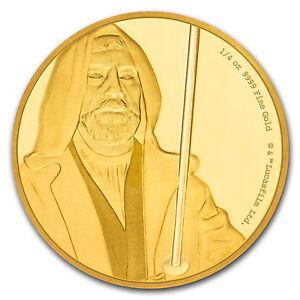 2017 Niue 1/4 oz Gold $25 Star Wars Obi-Wan Kenobi Pf (Box & COA) - SKU #114741