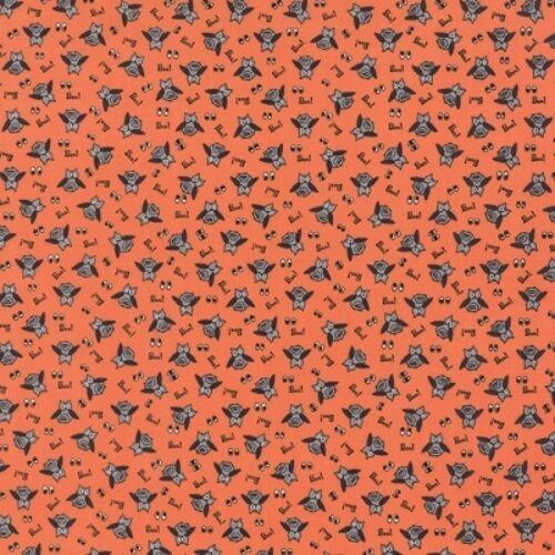 Moda Spooky Delights 2901 11 Pumpkin Owl Toss BTY COTTON