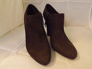 Lauren-Ralph-Lauren-Janae-Suede-Fashion-Ankle-Boots-NEW-Brown-Size-9-5-B