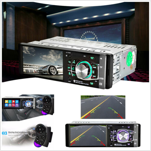 "4.1/"" Bluetooth Handsfree In-Dash Radio Stereo HD Car MP5 MP3 USB Player Camera"