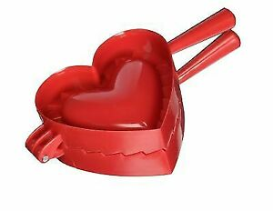 Red Norpro 1012 Heart Dough and Dumpling Press