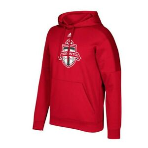 official photos d0ba4 5957b Details about Toronto FC MLS Adidas Men's Red Preferred CF Patch Pullover  Hoodie
