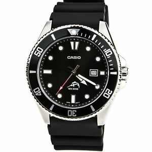 Casio-Men-039-s-Watch-Sports-Black-Dial-Black-Resin-Strap-Dive-MDV106-1A