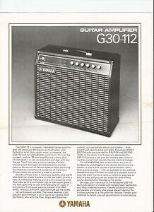 Yamaha Guitar Amplifier History