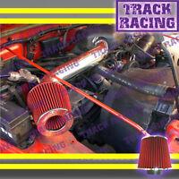97 98 99 00-02 Jeep Wrangler Se Sport Sahara 2.5l I4 Air Intake Black Red Tbh
