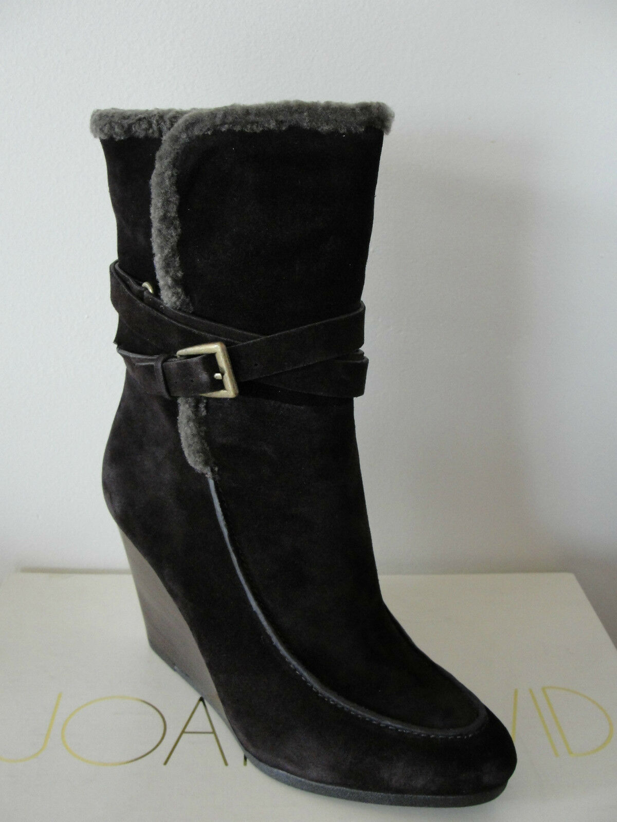 NIB  300 Joan & David Florita Suede Ankle botas botas botas Dark marrón 9M 5a5584
