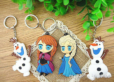 Frozen Princess Anna Elsa Olaf Rubber Key ring girl