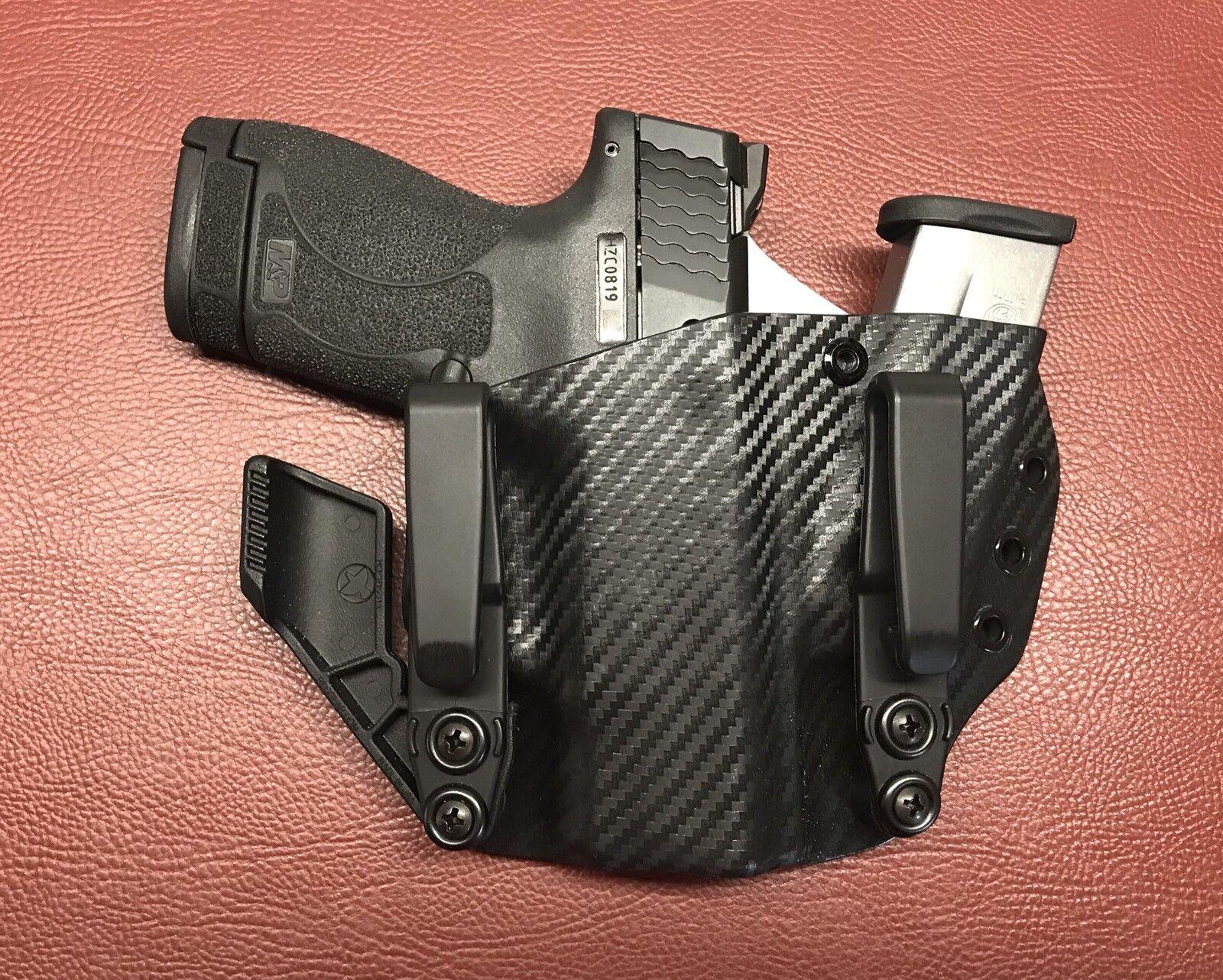 & Wesson M&P Shield Smith 9mm 40 Aiwb Sidecar KYDEX Funda