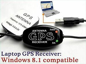 Laptop GPS Receiver Antenna// Boater Google Map NetBook PC Android Tablet USB E