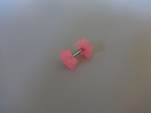 Plug Fake túnel doble estrella Star Neon acrílico ~ 8 mm Wave para oreja ear 1,6 mm