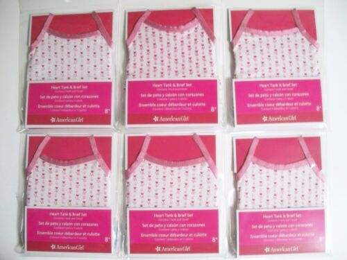 GREAT PARTY FAVORS AMERICAN GIRL LOT OF SIX TANK TOP// BRIEFS NEW IN PACKAGES