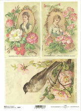 Scrapbooking Vintage Christmas Ladies A4 ITD R193 Rice Paper for Decoupage