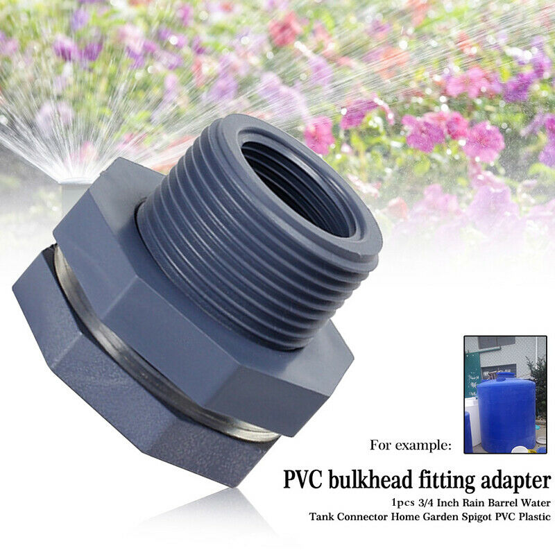 Water Tank Connector Seal For Aquariums PVC Plastic Hose 3/4 Inch Female ThreD0M
