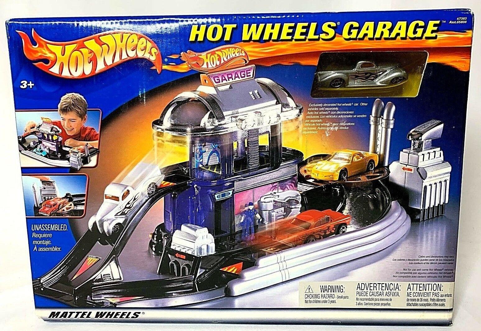 Hot Wheels GARAGE 2002 Set Mattel  47383 neuf en boîte