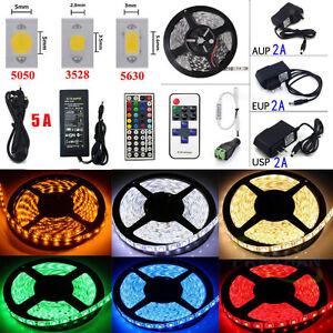 5M-10M-20M-LEDs-SMD-3528-5050-5630-RGB-White-Flexible-Strip-Light-Remote-Power