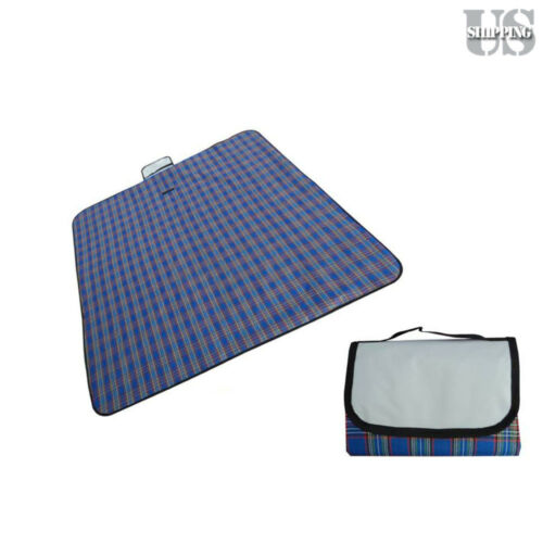 "79/""x59/"" Waterproof Picnic Mat Blanket Pad Outdoor Folding Camping Beach Blanket"