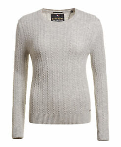 a920c034b Image is loading New-Womens-Superdry-Luxe-Mini-Cable-Knit-Jumper-