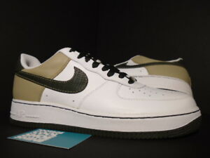 ropa interior Kosciuszko ligero  Nike Air Force 1 '07 Low WHITE DARK ARMY OLIVE GREEN TWEED BROWN 315122-131  11 | eBay