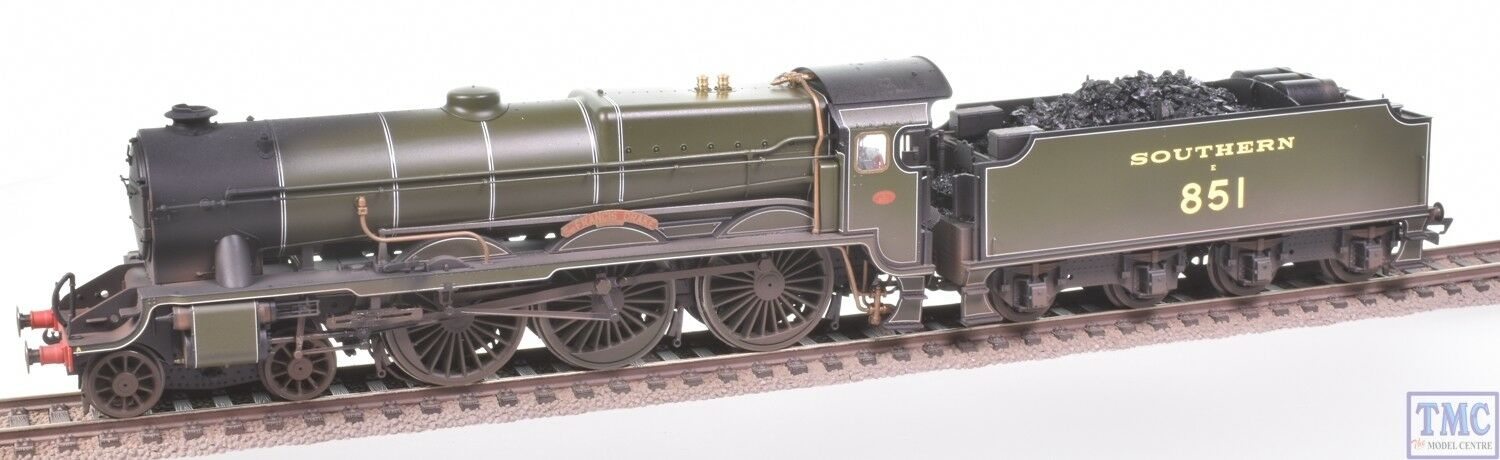 R3634 Hornby OO SR Lord Nelson no.851 Sir Francis Drake Coal och ED Weathering