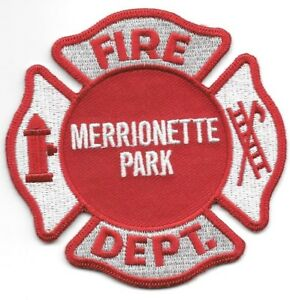Merrionette Park Fire Dept Illinois 35 X 35 Size Fire Patch
