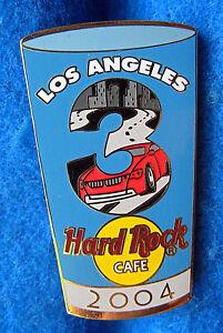 Los-Angeles-Pinta-Vidrio-Serie-3-Rojo-Sports-Coche-amp-Freeway-Hard-Rock-Cafe-Pin