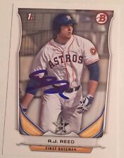 AJ REED SIGNED 2014 BOWMAN DRAFT BDP PROSPECT ROOKIE CARD AUTO