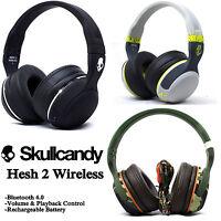 New Skullcandy Hesh 2 Wireless Bluetooth 4.0 Headset Supreme Sound with Mic