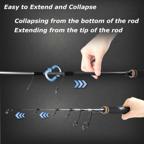 Maxcatch Travel Spinning Fishing Rods 6/'8/'/'// 7/'// 8/'// 9/' Telescopic Fishing Pole
