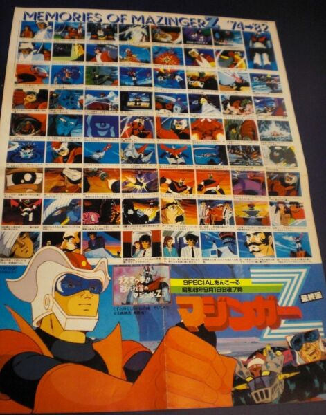 Mazinger Z Japan Poster Mazinga 1982 Go Nagai Anime Robot Mecha Panda Go Panda