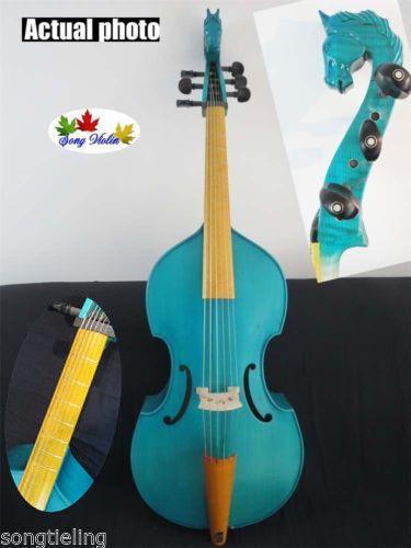 Canción de estilo estilo estilo barroco marca Maestro 6 Cuerdas 27  la cabeza de caballo azul púrpura da gamba  tienda de bajo costo